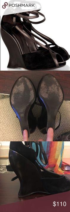 Brown Bottega Venetta wedge Bottega Venetta brown suede Bottega Veneta Shoes Wedges