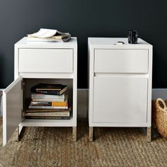 Hudson Nightstand - White on shopstyle.com