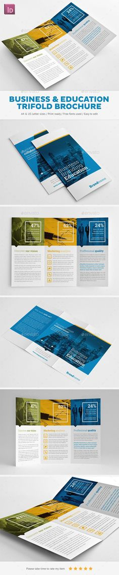 Business Branding & Education Trifold Brochure Template. Download: http://graphicriver.net/item/business-branding-education-trifold-brochure/11246190?ref=ksioks: