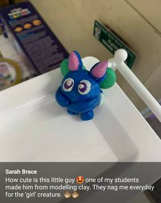 How creative was this child?! They used play dough to create their interpretation of their Pet Creature. Check out more photos from teachers all around the world on our website.