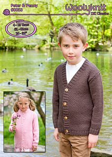 Knitting pattern written by Danielle Parkin. Boys and Girls cardigan knitting pattern with a moss stitch design