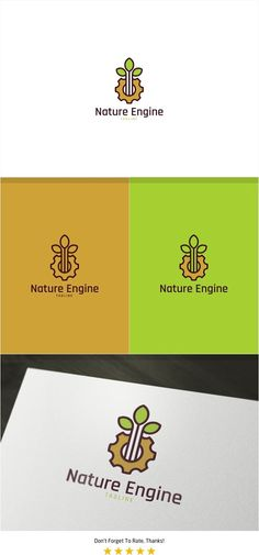 Nature Gear Logo by PC Design on @creativemarket