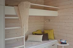 Inspired by love Cottage Interiors, Cottage Homes, Villa, Log Homes, Curtains, Inspiration, Bed, Furniture, Architecture Design