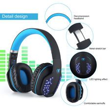 Details About Foldable Wireless Stereo Headset Bluetooth Headphone Music With Mic For Joggers Music Headphones Headset Gaming Headset
