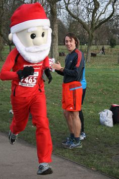 Regents Park London Santa Run.   https://www.facebook.com/bigheadrunner