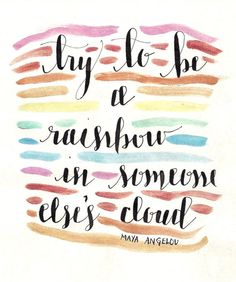 Be a Rainbow in Someone Else's Cloud Print by KraftsByKML on Etsy, $6.00