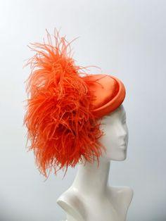C048 Fascinators, Headpieces, Orange Hats, Cocktail Hat, Women's Hats, Royal Fashion, Hats For Women, Derby, Cocktails