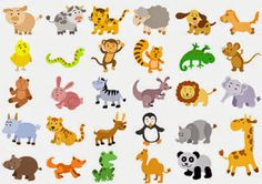Extra large set of animals. File - simple Gradients, no Effects, no mesh, no Transparencies.All in separate group for easy editing. Learning French For Kids, Ways Of Learning, Spanish Language Learning, Teaching French, Foreign Language, Teaching Spanish, English Language, French Teacher, French Class