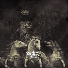 "Finnish death metal band Desolate Shrine will release their new album entitled ""The Heart of the Netherworld"" on January The album . Music Covers, Cd Cover, Album Covers, Cover Art, Kitchen Metal Wall Art, Extreme Metal, Metal Albums, Black Fire, Black Metal"