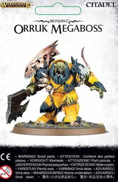Orruk Megaboss Ironjawz contains 1 model for use in Warhammer Age of Sigmar.
