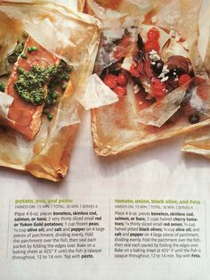 Easy fish packets... #realsimple
