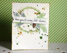 Merry Little Christmas Card by May Flaum. #EllenHutsonLLC #EssentialsbyEllen #ChristmasScribbles