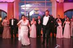 Saratoga National wedding- the brdie and groom get their groon on during their first dance as husbband and wife!