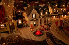images christmas tablescape | Christmas Tablescape with Dept. 56 | Christmas Village Ideas