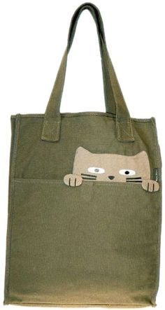 inspiration: cat tote via alternative outfitters Patchwork Bags, Quilted Bag, Patchwork Quilting, Sewing Jeans, Dress Sewing, Cat Bag, Denim Bag, Fabric Bags, Handmade Bags