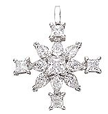 Winter magic snow star pendant