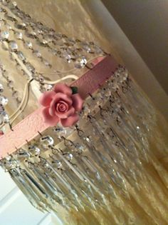 Shabby Chic Pink Chandelier