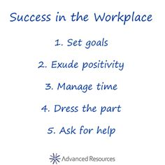 tips for success in the workplace