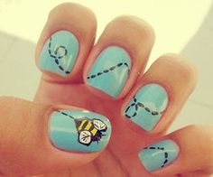 Bumble Bee Nails!!