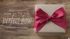 how to tie bows - YouTube