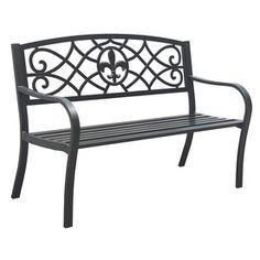 Elegant Garden Treasures 23.75 In L Steel/Iron Patio Bench $97.00 At Lowes