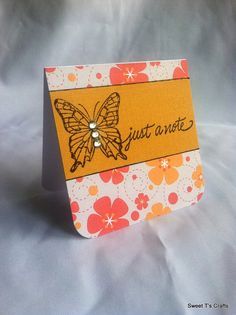 "3"" x 3"" Just a Note Note Card w/ Envelope, Single  ID1194"