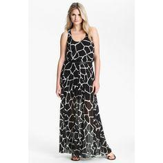 Pleated Chiffon Maxi Dress | MICHAEL Michael Kors Pleated Chiffon Maxi Dress