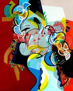 Yoël Benharrouche, Les mondes inversés (Lacquer), 2015, Eden Fine Art