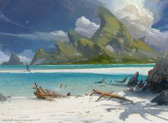 ArtStation - Magic: The Gathering - 'Ixalan' Basic Lands, Titus Lunter