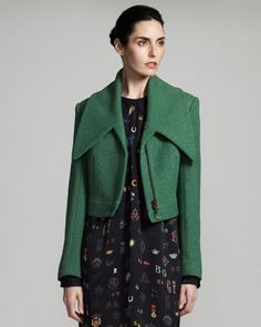 Stella Macartney green cropped jacket