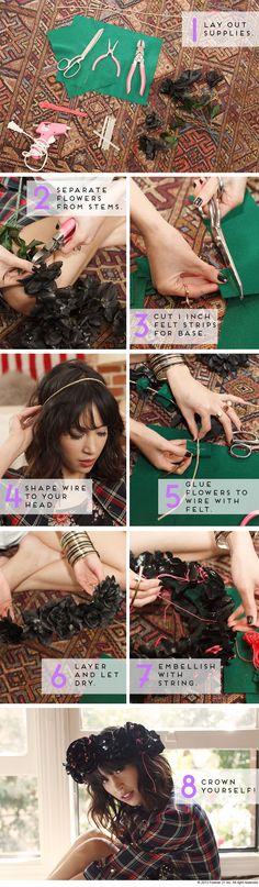 The DIY Files- Flower Crown Steps #DIY