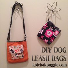 I hate being the weirdo walking around with a bag of poop in your hand, don't you? Our new DIY Dog Leash Bags are an elegant solution to an icky problem.