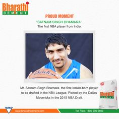 #‎Proudmoment‬ - ‪#‎SatnamSingh‬ Bhamara - The first ‪#‎NBA‬ player from ‪#‎India‬. 'Satnam Singh Bhamara', the first Indian-born player to be drafted in the NBA League, Picked by the Dallas Mavericks in the 2015 NBA Draft (Image copyrights belong to their respective owners)