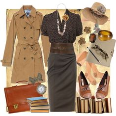 It's like an outfit for a sexy librarian safari!