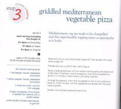 Griddled Mediterranean vegetable pizza Slimming World Pizza, Vegetable Pizza, Healthy, Easy, Health