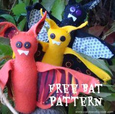 free bat pattern by patchworkposse.com  hand sew quick stitch