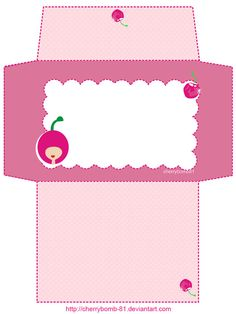 Stationery Envelope Cute Pink by cherrybomb-81 on deviantART