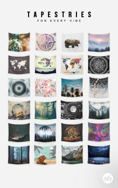 Shop unique and original wall tapestries on Society6. Society6 is home to hundreds of thousands of artists from around the globe, uploading and selling their original works as 30+ premium consumer goods from Art Prints to Throw Blankets. They create, we produce and fulfill, and every purchase pays an artist.