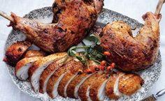 Brined Roast Turkey Breast with Confit Legs
