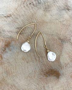 Pearl Earrings White Pearl Earrings Gold White Pearl