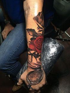 roses by Teneile Napoli, Brown Plains, Australia   rose tattoos for men