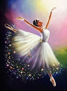 Diamond Painting Beautiful Ballerina Kit is part of pencil-drawings - You too can be an artist when you paint with Diamonds! Every kit gives you a chance to create a work of art you can be proud of This diamond painting kit Ballet Art, Ballet Dancers, Ballerinas, Ballerina Kunst, Ballerina Painting, Dance Paintings, Jazz Painting, Diy Painting, Watercolor Painting