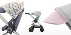 For those wishing to change up the look of their stroller and add more whimsy to their on-the-go lifestyle, we also introduce coordinating Style Kits in colorful polka dot patterns Soft Dots and Retro Dots , bringing out the playful side of our smart urban stroller. The existing stroller color Slate Blue looks especially good together with the new Style Kit; Retro Dots.