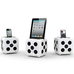 Speaker for Ipod iDice Black White