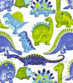 Cotton Flannel Quilt Fabric Snuggle Happy Dinosaurs T Rex Stego Bronto Flannel Quilts, Flannel Blanket, Dinosaur Fabric, Watercolor Mermaid, Baby Sheets, The Good Dinosaur, Joanns Fabric And Crafts, T Rex, Backgrounds