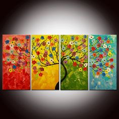 Original Modern Abstract Large Abstract  by FlowerArtPainting, $249.00