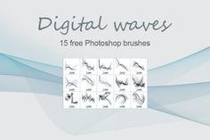 Free Photoshop brushes Digital wave
