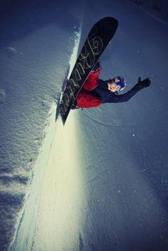 High side. Enni Rukajärvi shot by Harri Tarvainen. http://win.gs/1aap8wm #snowboard