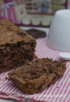 plumcake al cioccolato senza uova senza burro e senza latte con gocce di cioccolato ricetta dolce