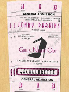 Creative Bachelorette party invites